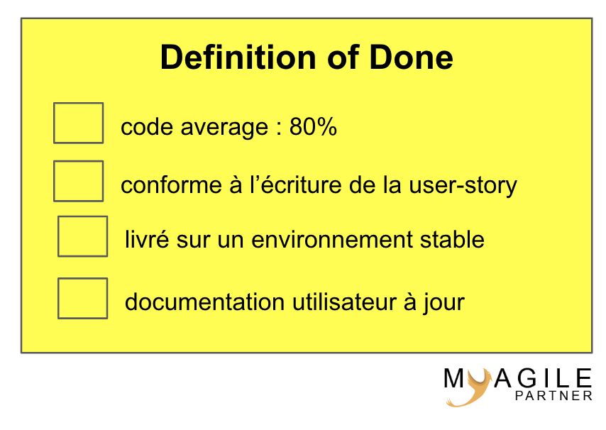 Definition of done - exemple
