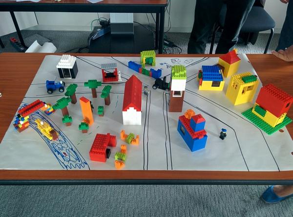 ville avec le lego4scrum - lego scrum