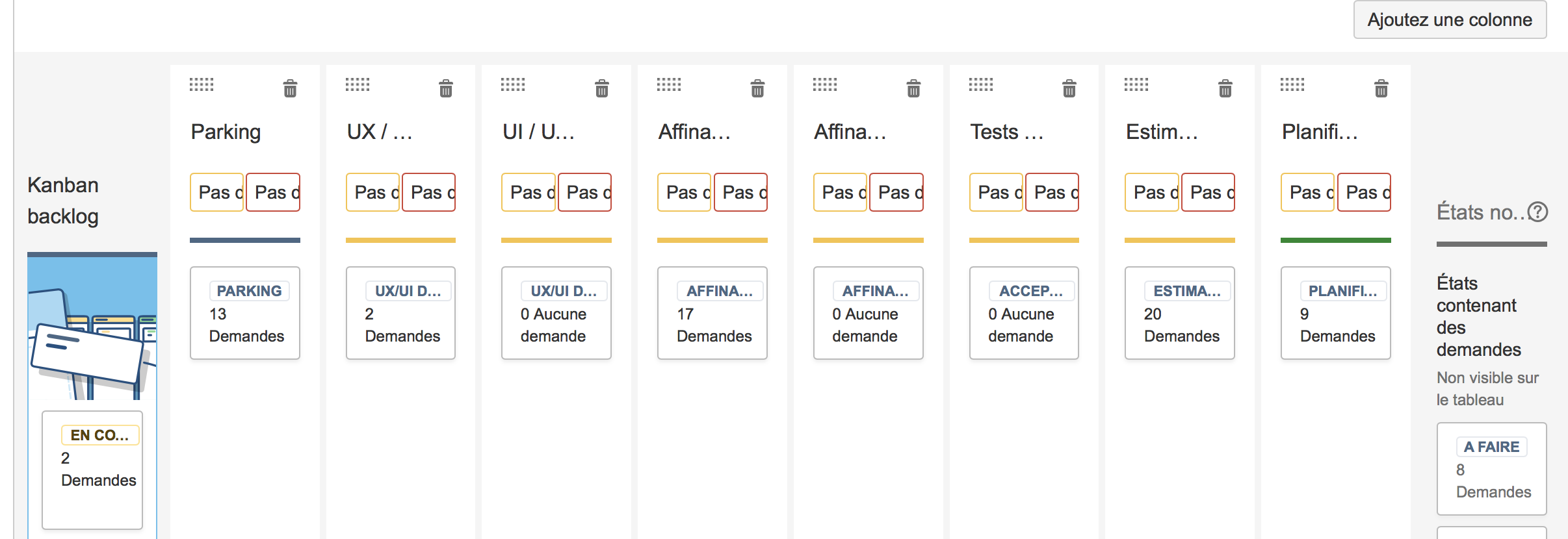 Board settings sur Jira