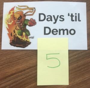 Days 'til demo