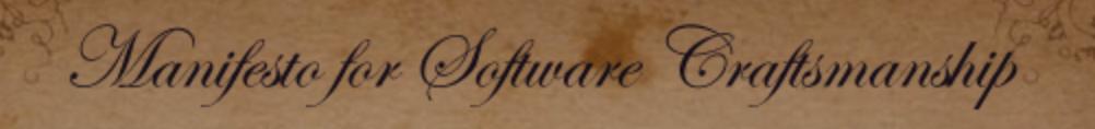 manifesto for software craftsmanship