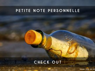 ma petite note personnelle
