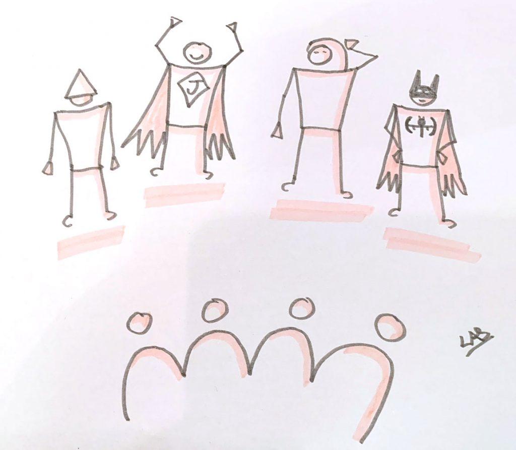 facilitation graphique - personnages