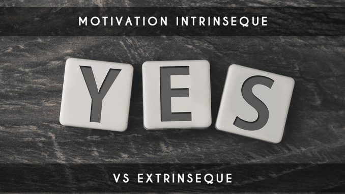 motivation intrinsèque vs extrinsèque