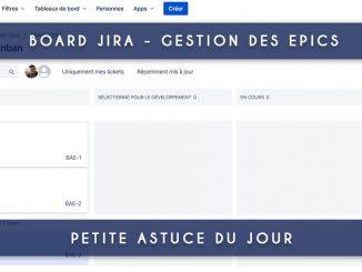 board jira avec epic