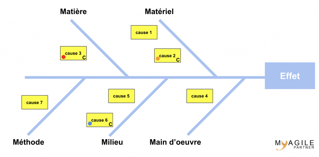 diagramme de causes/effets complet